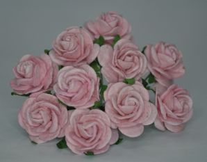 LIGHT PINK ROSES (2.0 cm) Mulberry Paper Roses (Previously known as 2.5 cm)